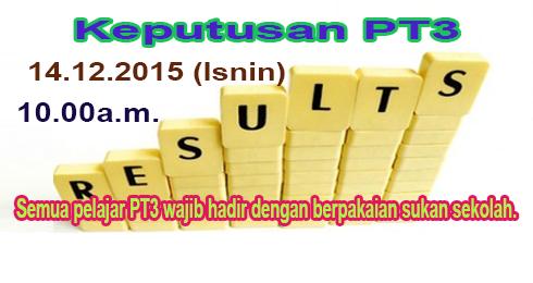 Keputusan PT3 2015