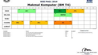 Jadual Penggunaan Makmal Komputer