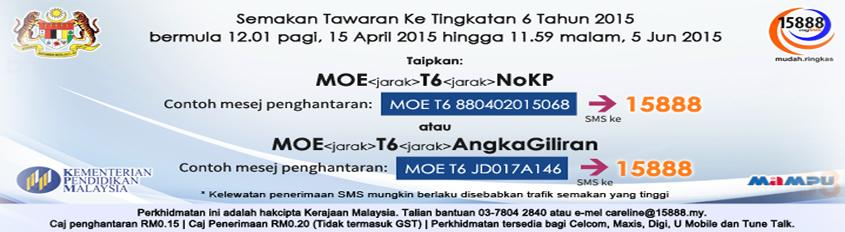 Tawaran ke T6 2015