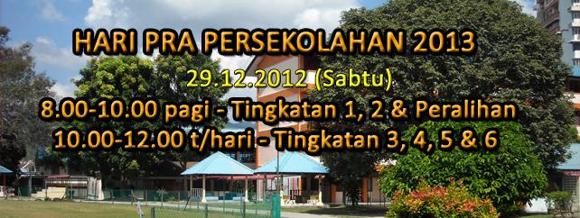 Hari Pra Persekolahan 2013